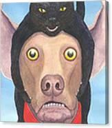 Giddyup Pink Dog Canvas Print