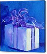 Gift In Blue Canvas Print
