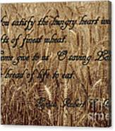Gift Of Finest Wheat Canvas Print