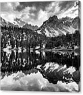 Gilbert Lake And University Peak Canvas Print