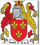 Gillan Coat Of Arms Irish Canvas Print