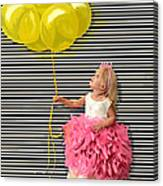 Gillian With Yellow Balloons Canvas Print