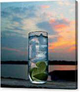 Gin And Tonic On The Deck Canvas Print