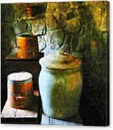 Ginger Jar And Buckets Canvas Print