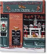 Gingerbread Bakery At Fox Creek Canvas Print