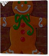 Gingerbread Greetings Canvas Print