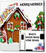 Gingerbread House Xmas Card 2 Canvas Print