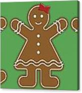Gingerbread People Canvas Print