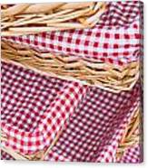 Gingham Baskets Canvas Print