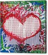 Gingham Crazy Heart Shrink Wrapped Canvas Print