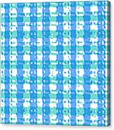 Gingham Glyphs Canvas Print