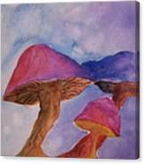Gini's Shrooms Canvas Print