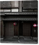 Gion Geisha District Of Kyoto Japan Canvas Print