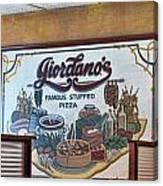 Giordanos Pizza Chicago Canvas Print