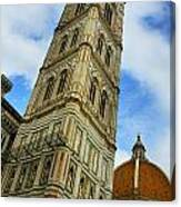 Giotto Campanile Tower In Florence Italy Canvas Print