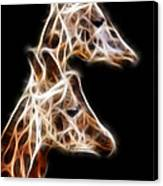 Giraffe Duo Fractal Canvas Print