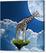 Giraffe Flying High Canvas Print