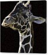 Giraffe In The Morning Pixelated Canvas Print