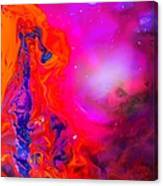 Giraffe In The Universe - Abstract Painting Canvas Print