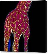 Giraffe Pop Art Canvas Print