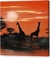 Serengeti Sunset Sold Canvas Print