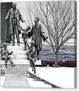 Girard And His Orphans Canvas Print