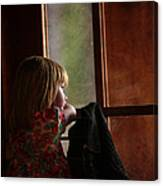Girl At The Window Canvas Print