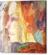 Girl At Window Canvas Print