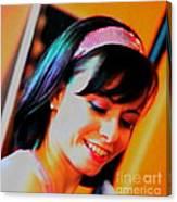 Girl Au Gogo Canvas Print