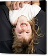 Girl Being Tickled Canvas Print
