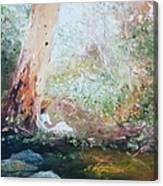 Girl In A White Dress Canvas Print