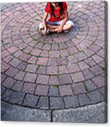 Girl In Circle Canvas Print
