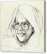 Girl In Glasses Canvas Print