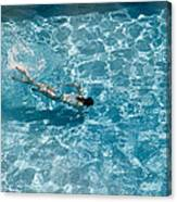 Girl In Pool Canvas Print