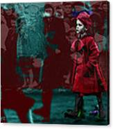 Girl In The Blood-stained Coat Canvas Print