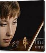 Girl Musician And Violin Or Viola Photograph Color 3361.02 Canvas Print