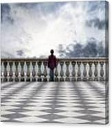 Girl On A Terrace Canvas Print
