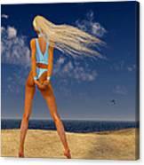Girl On The Beach... Canvas Print