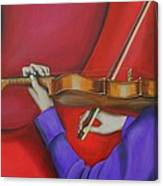 Girl On Violin Canvas Print