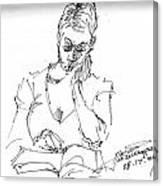 Girl Reading Canvas Print