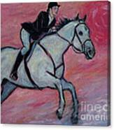 Girl Riding Her Horse I Canvas Print