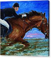 Girl Riding Her Horse II Canvas Print
