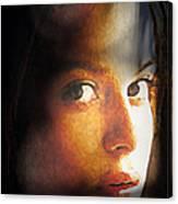 Girl Sans Variant Canvas Print