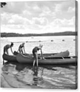 Girl Scout Canoe Test Canvas Print