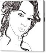 Girl Sketch Canvas Print