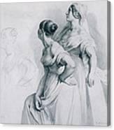 Girl Studies  1839 Canvas Print