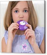 Girl Using Asthma Medication Canvas Print