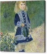 Girl With A Watering Can Canvas Print