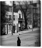 Girl With Dog - Somewhere In America Canvas Print