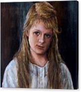 Girl With Long Brown Hair Canvas Print